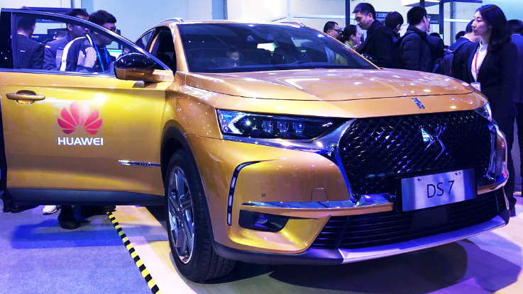 DS 7 is the first car to feature Huawei Connected Car Solution