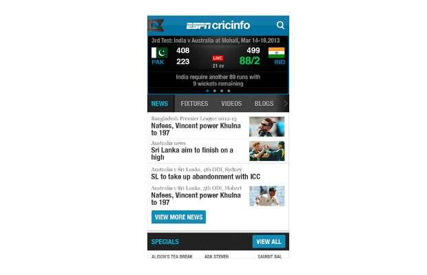 Review: ESPNCricinfo App for iOS