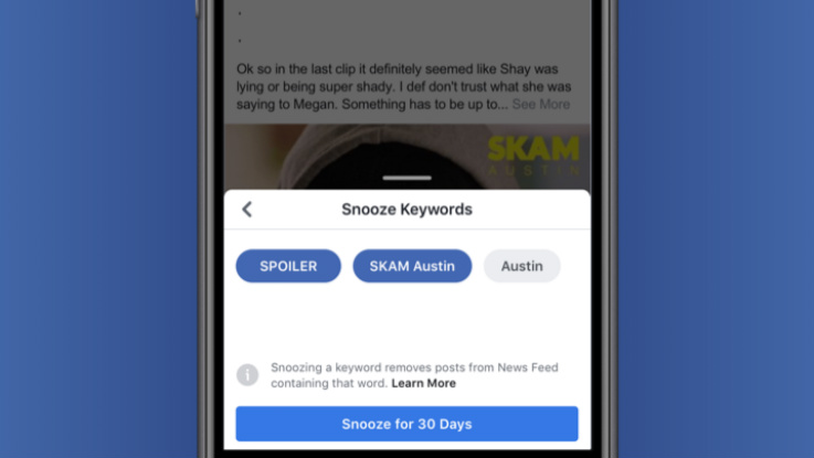 Facebook introduces Keyword Snooze button in News Feed to avoid spoilers