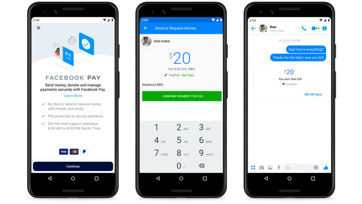 Facebook Pay announced, now send money on Instagram, WhatsApp and Messenger