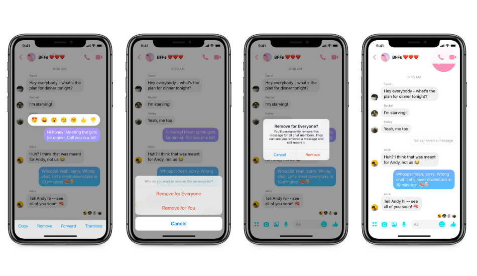 Facebook adds an 'unsend' feature for Messenger on iOS and Android