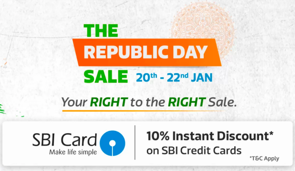 Flipkart Republic Day Sale will be held during January 20 - 22