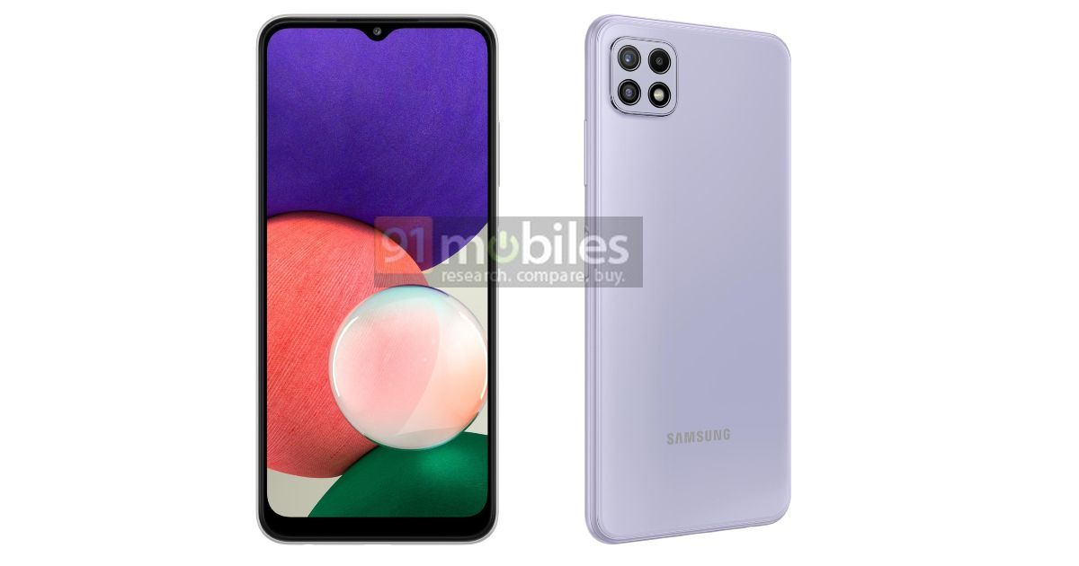 Samsung Galaxy A22 4G, Galaxy A22 5G leak in renders, key specifications revealed