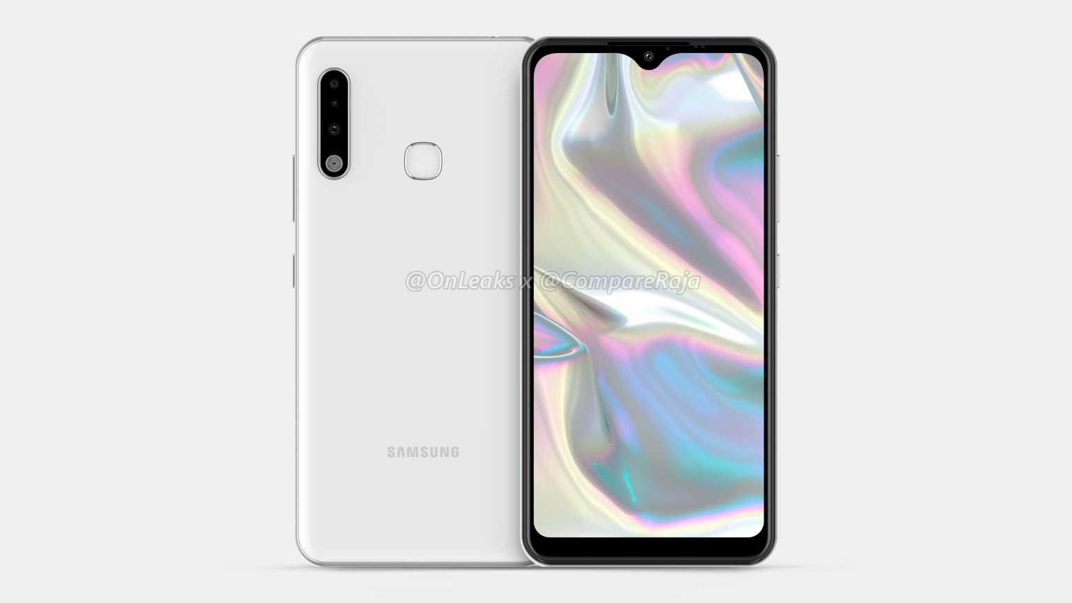 Samsung Galaxy A70e leaked renders show Infinity-U display and triple rear cameras