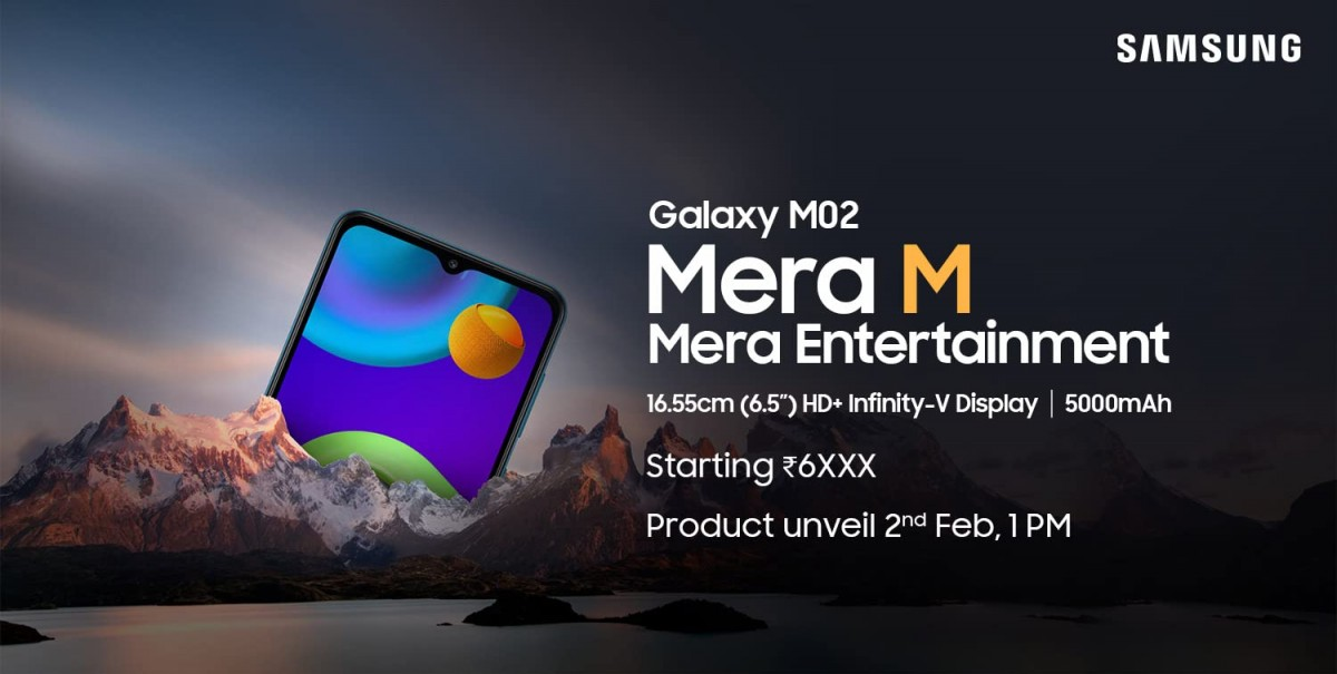 Samsung Galaxy M02 to be launched in India on 2 February under Rs 7,000