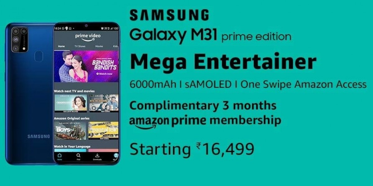 Samsung Galaxy M31 Prime launched in India