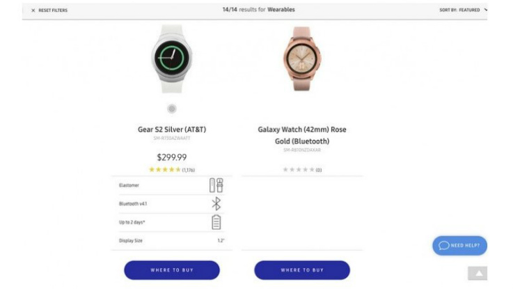 Samsung Galaxy Watch found listed on company's website ahead of launch