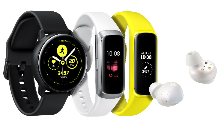 Samsung Galaxy Watch Active, Galaxy Fit, Fit E and Galaxy Buds unveiled