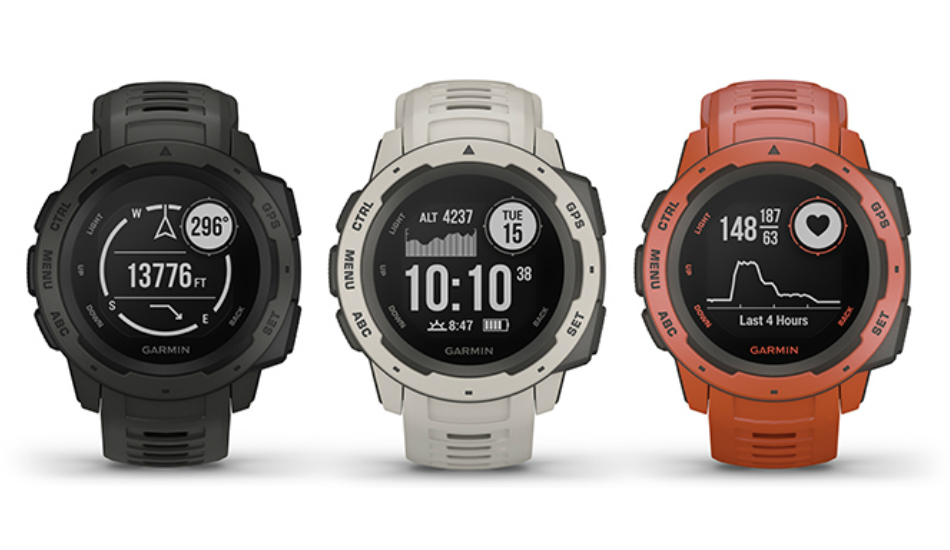 Garmin Instinct rugged smartwatch with 14-day battery launched in India, priced at Rs 26,990