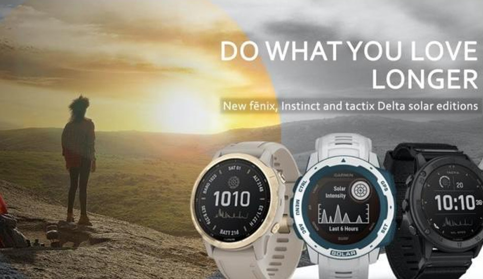 Garmin launches new solar-powered smartwatches in India