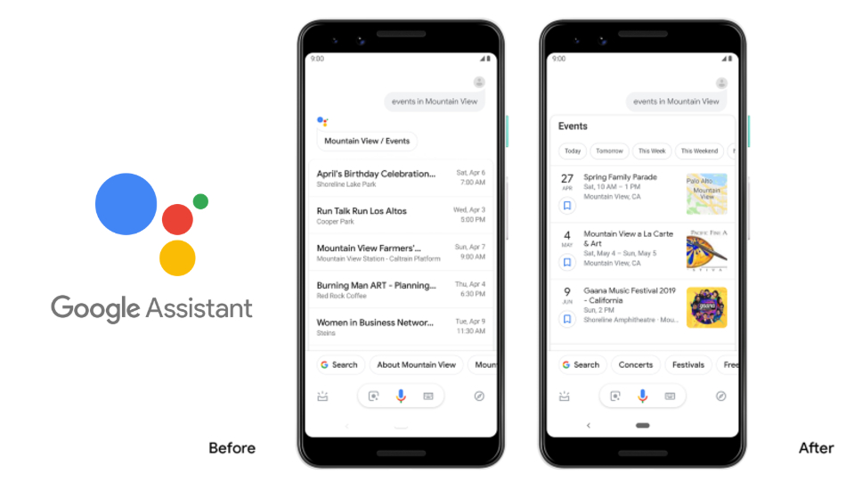 Google Assistant now shows improved visual answers, adds in-app tools