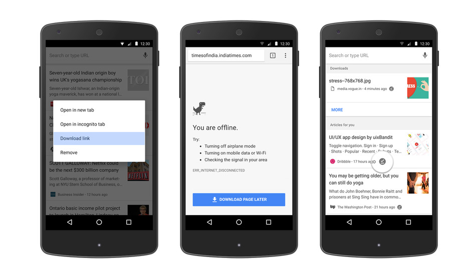 Google releases update to easily read offline web pages in Chrome on Android
