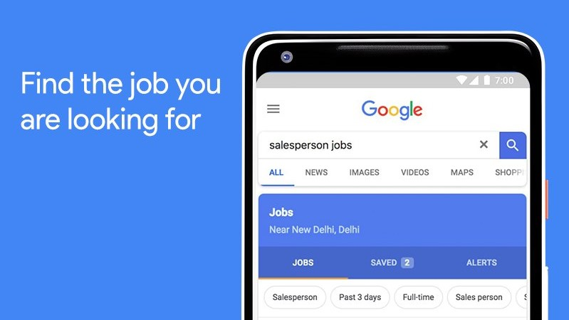 Google makes it easier to search for jobs in India