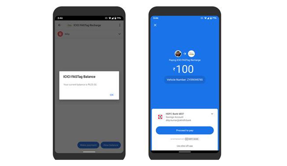 Google Pay adds UPI recharge option for FASTag users