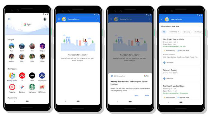 Google Pay Nearby Stores feature is now available in 35 cities in India