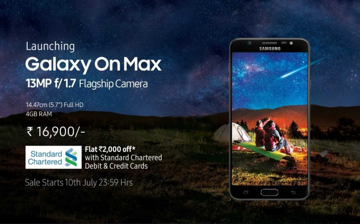 Samsung Galaxy On Max launched in India