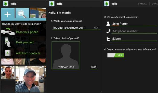 Evernote Hello for Android now available