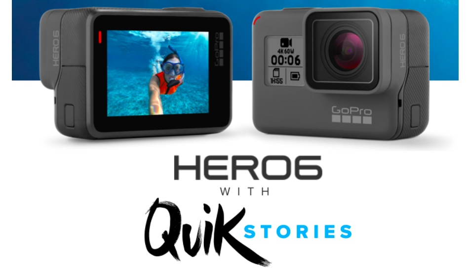GoPro HERO6 Black edition action camera with 4K video support launched in India for Rs 45,000