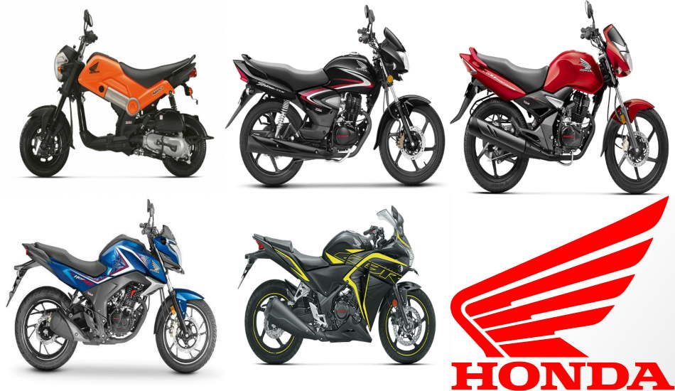 Top 5 bikes from Honda in different price segments