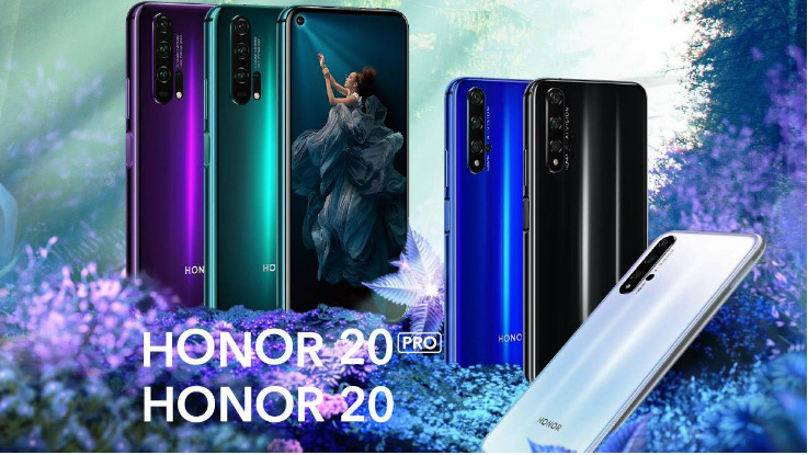 Honor 20, Honor 20 Pro with 48MP quad-camera setup, punch-hole design and Honor 20 Lite announced