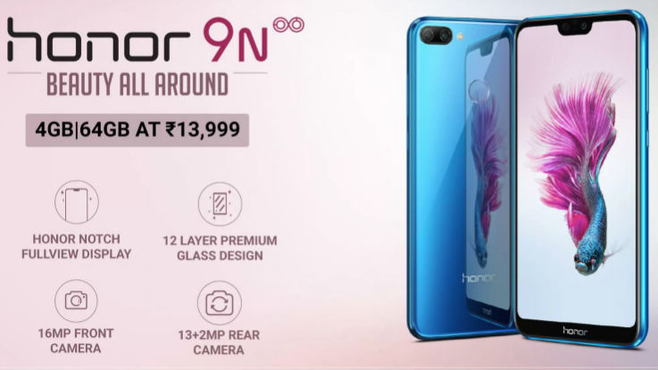 Honor 9N to go on sale today in India, price starts at Rs 13,999
