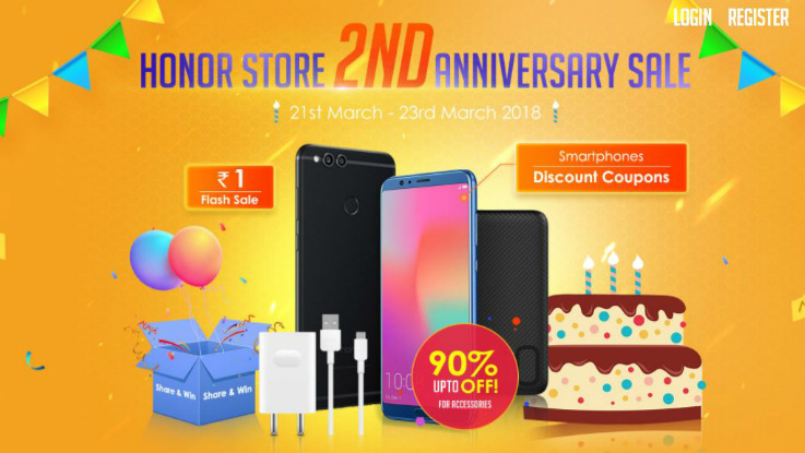Honor Store 2nd Anniversary Sale: Top offers on Honor 9 Lite, Honor 7X and more
