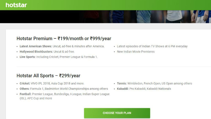 Hotstar introduces All Sports subscription plan in India at Rs 299
