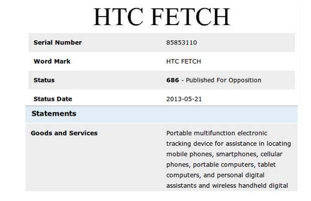 HTC working on device location service dubbed Fetch