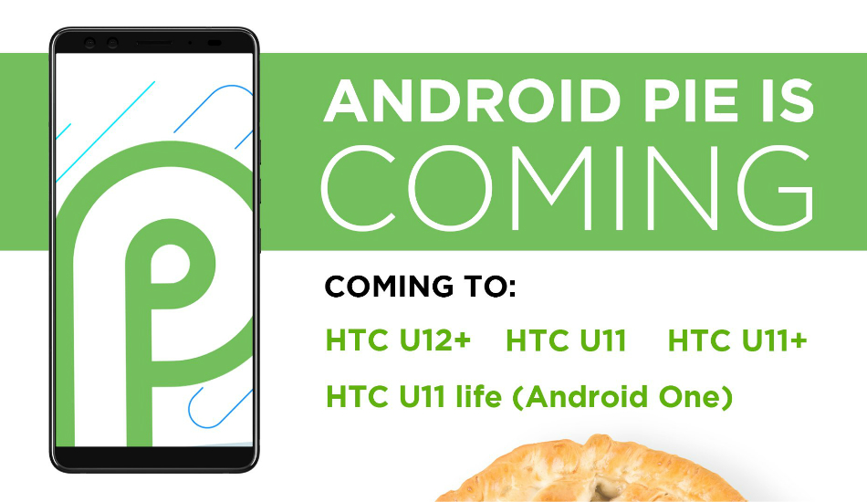 HTC confirms Android 9 Pie rollout to four of its devices