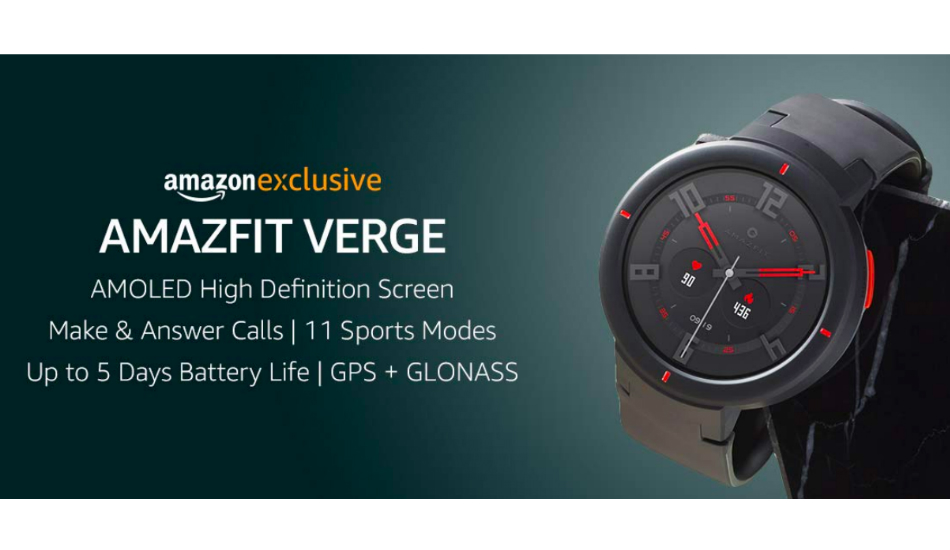 Huami Amazfit Verge smartwatch listed on Amazon India, to go official soon