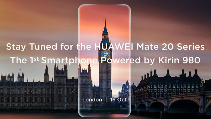 Huawei Mate 20, Mate 20 Pro with Kirin 980 chipset to launch on October 16