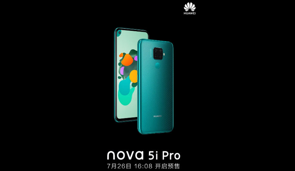 Huawei Nova 5i Pro launched with 6.26-inch FHD+ display, Kirin 810, 32MP in-display camera