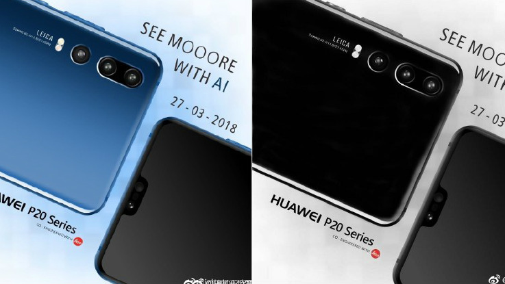 Huawei P20 promo images reveal triple camera setup with AI functions