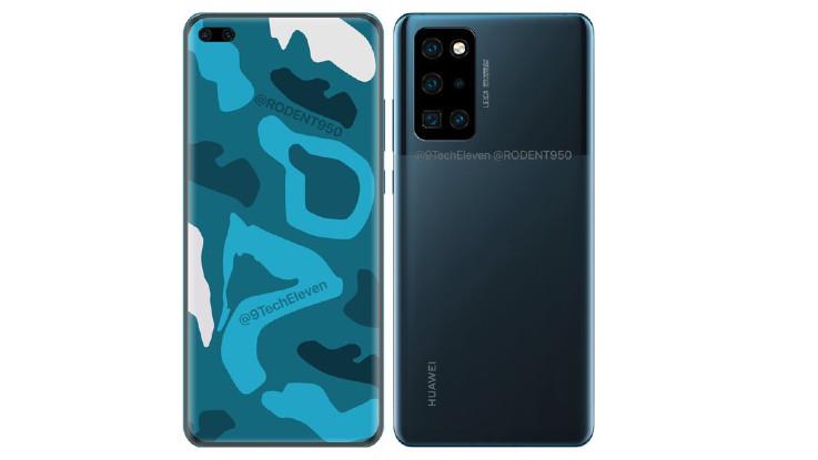 Huawei P40 Pro render, Huawei P40 specs leaked online