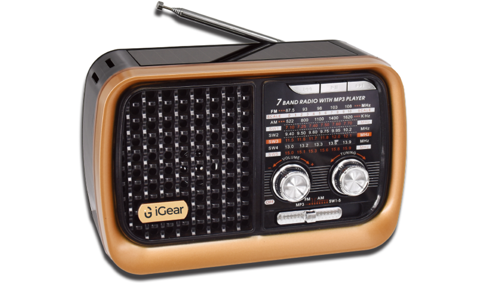 iGear 'Vintage Vibes' Retro-style 7-band Radio launched with Bluetooth, MP3 Playback and Emergency Torch