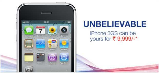 Apple iPhone 3GS now for Rs 9,999 only!