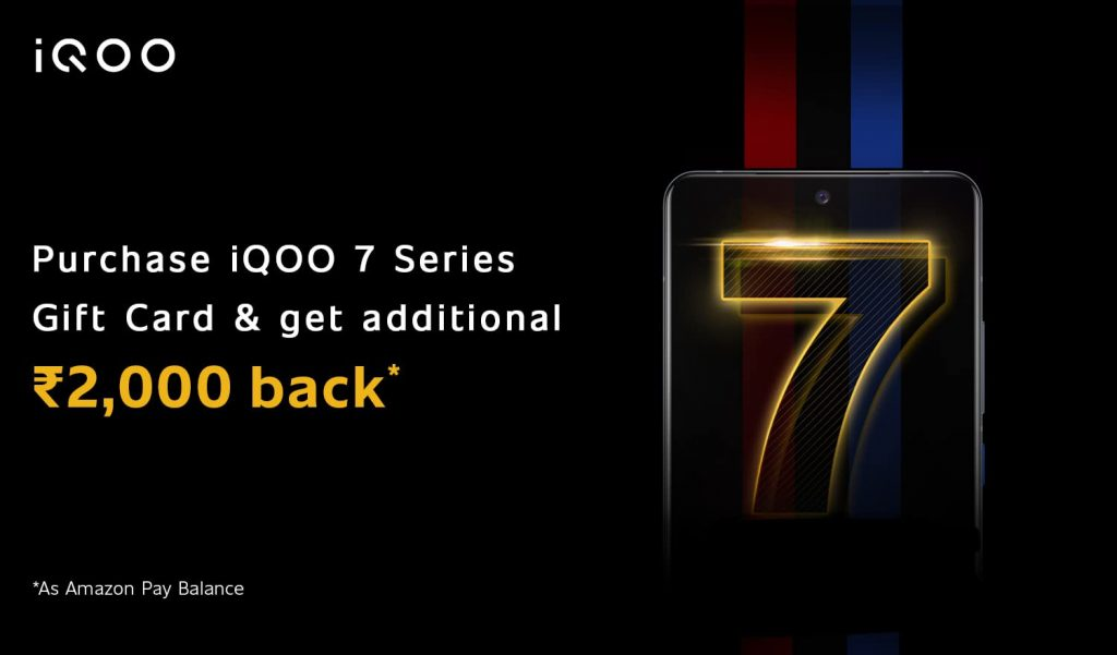 iQOO announces Rs 2000 cashback offer on purchase of iQoo 7 series on Amazon India