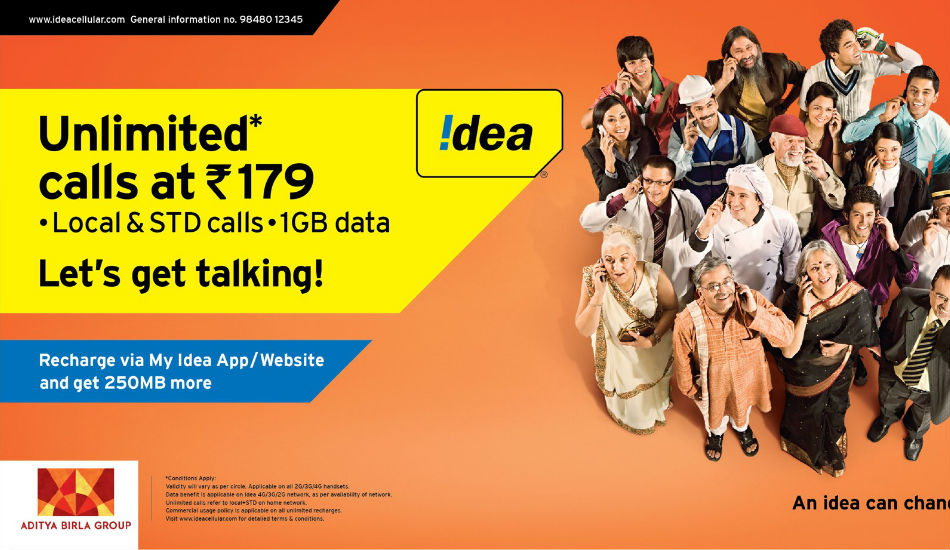 Idea offers unlimited calls, 1GB data at Rs 179