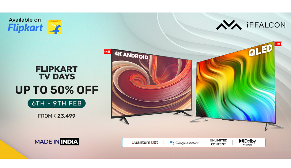 iFFALCON Day on Flipkart: Offers on H71 and K61 models