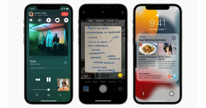 Apple introduces iOS 15 with Facetime Spatial audio, SharePlay, Live Text and more