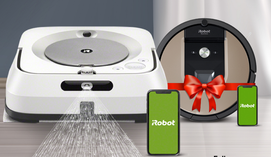 Get free iRobot's Roomba 971/976  Robotic Vacuum Cleaner on purchase of Braava Jet m6
