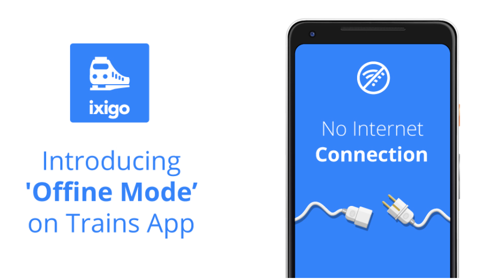 Ixigo Trains app updated with offline mode on Android