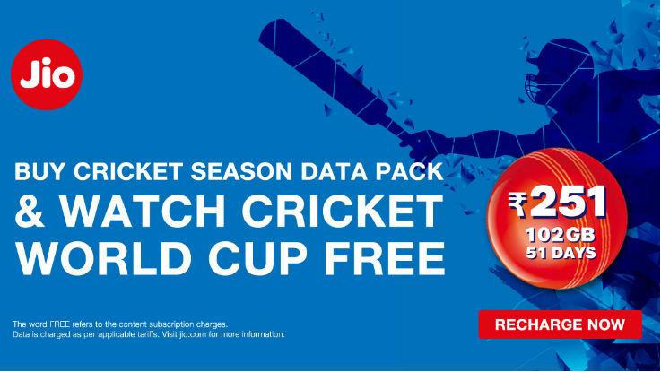 Reliance Jio users can watch ICC World Cup 2019 for free, new Cricket season data pack launched
