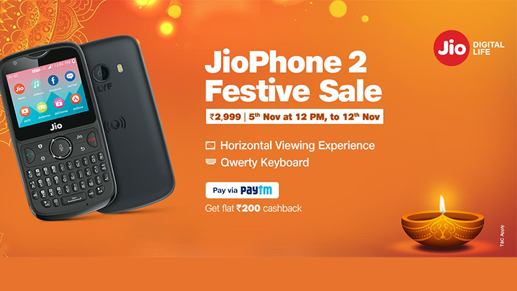 Reliance JioPhone 2 to be available for open sale from November 5 to 12