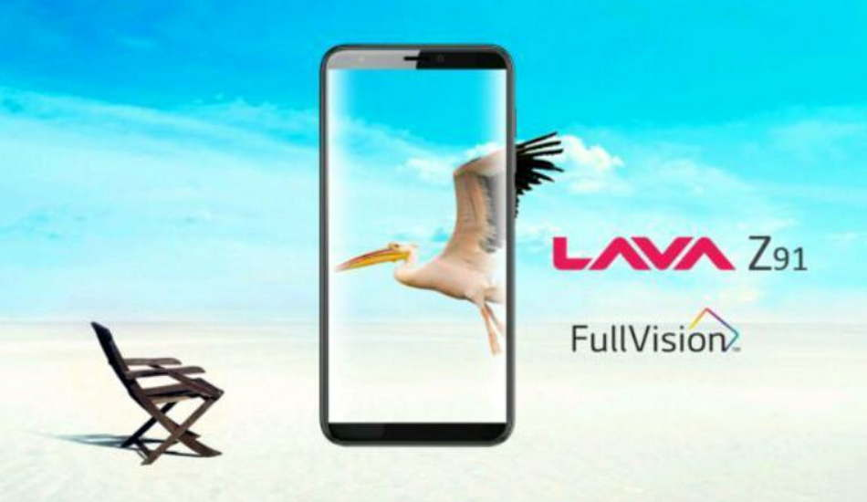 Lava Z91 launched with 5.7-inch HD+ display and Face Unlock feature