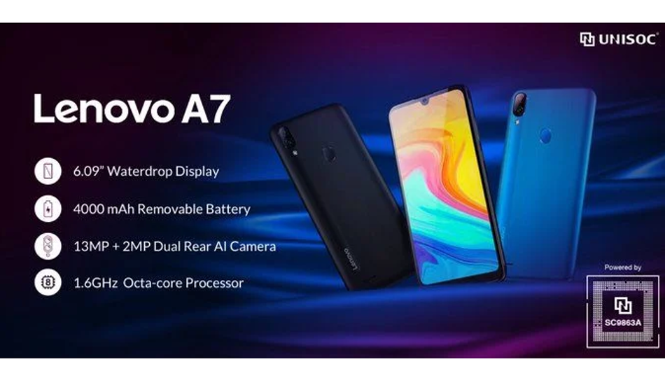 Lenovo A7 launched with Unisoc SC9863 processor and 13MP dual cameras
