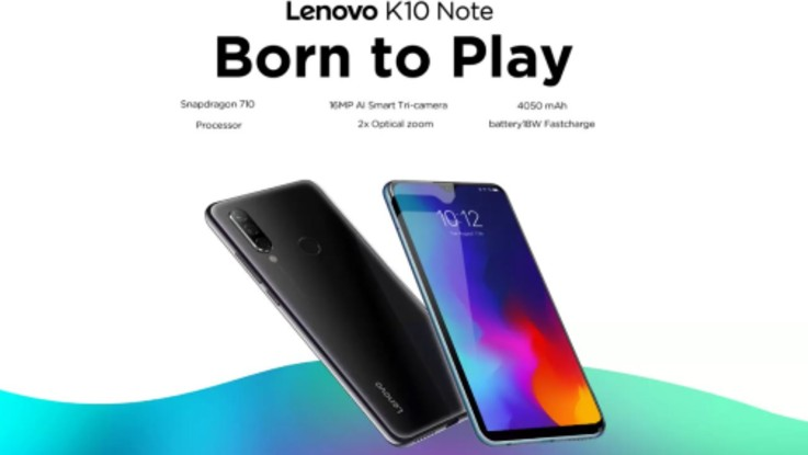 Lenovo K10 Note to go on sale today at 12 Noon