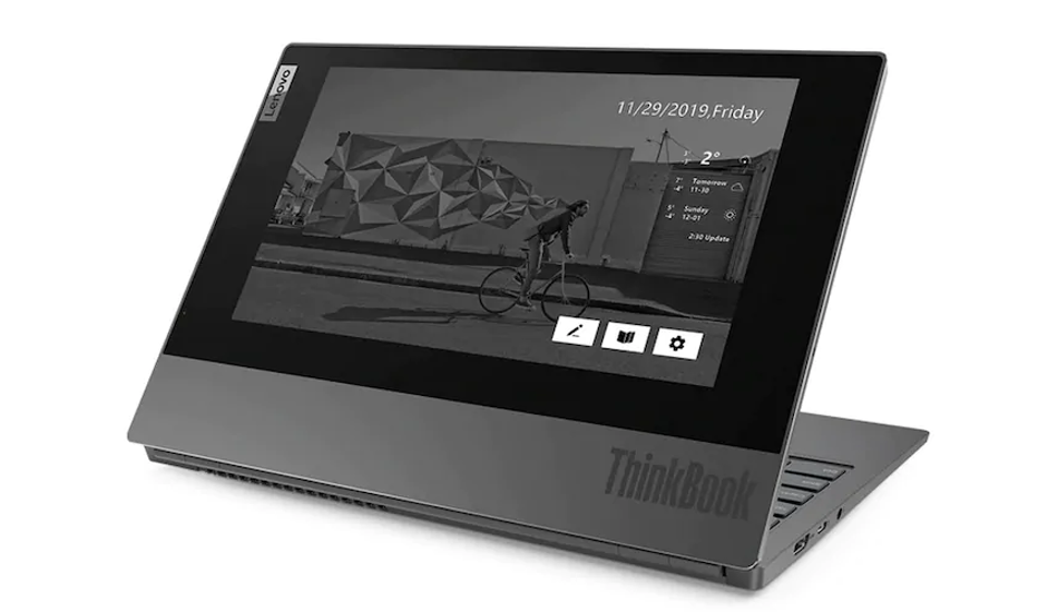 Lenovo ThinkBook Plus launched in India with E-Ink cover display