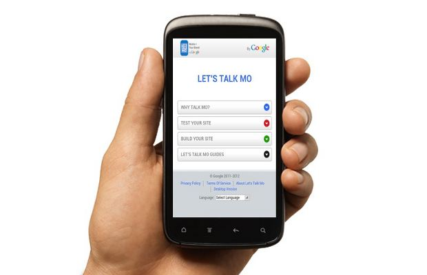 Create your own mobile website with Google