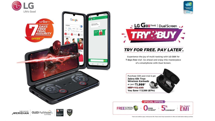 LG introduces try and buy offer for its G8X ThinQ